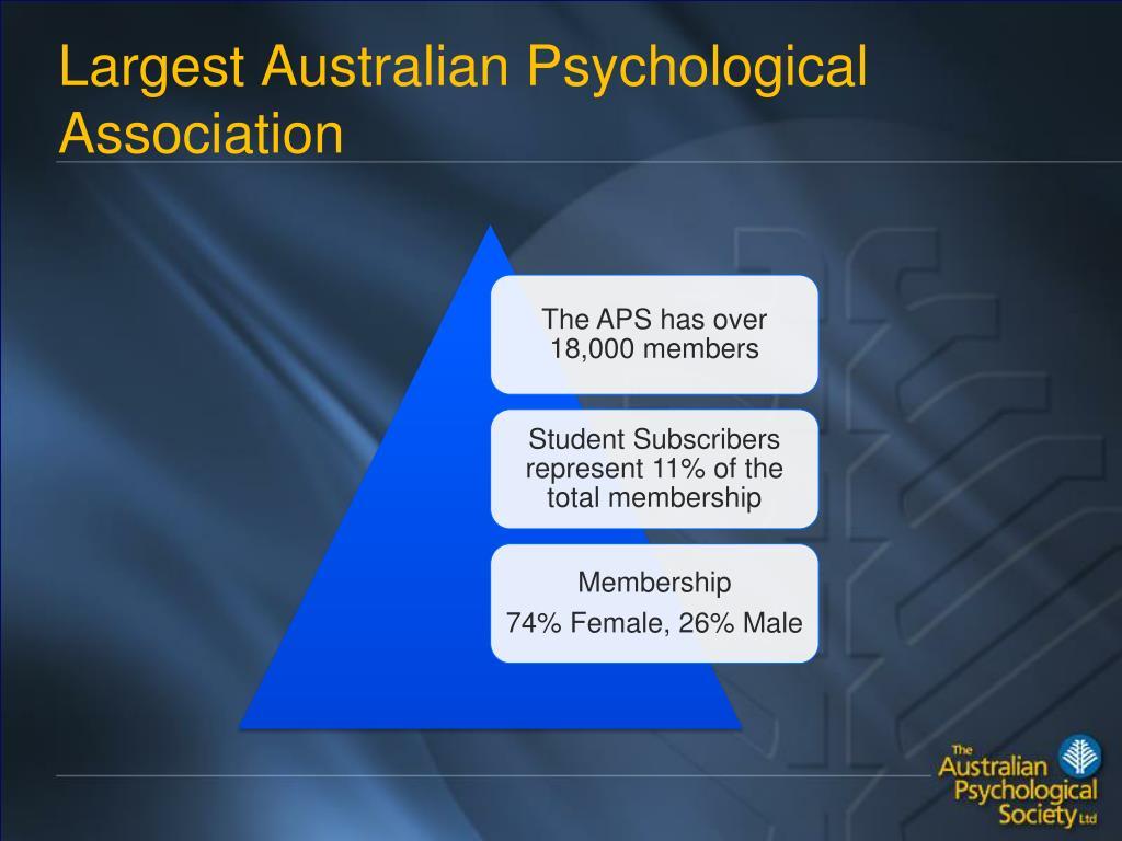 Largest Australian Psychological Association