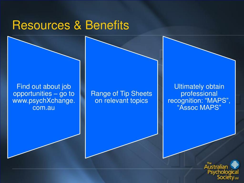 Resources & Benefits