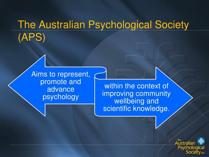 The australian psychological society aps