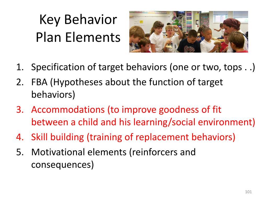 Key Behavior Plan Elements