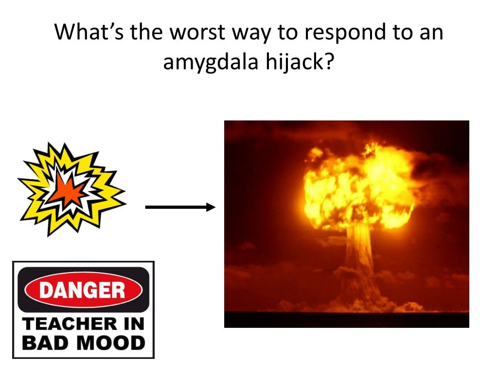 What's the worst way to respond to an amygdala hijack?
