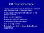 g8 disposition paper