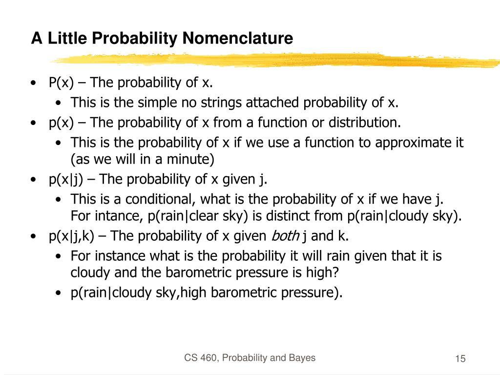 A Little Probability Nomenclature