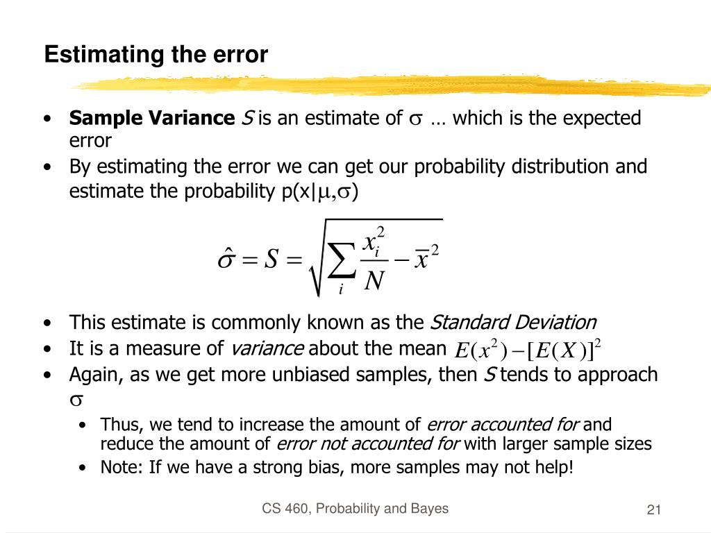 Estimating the error