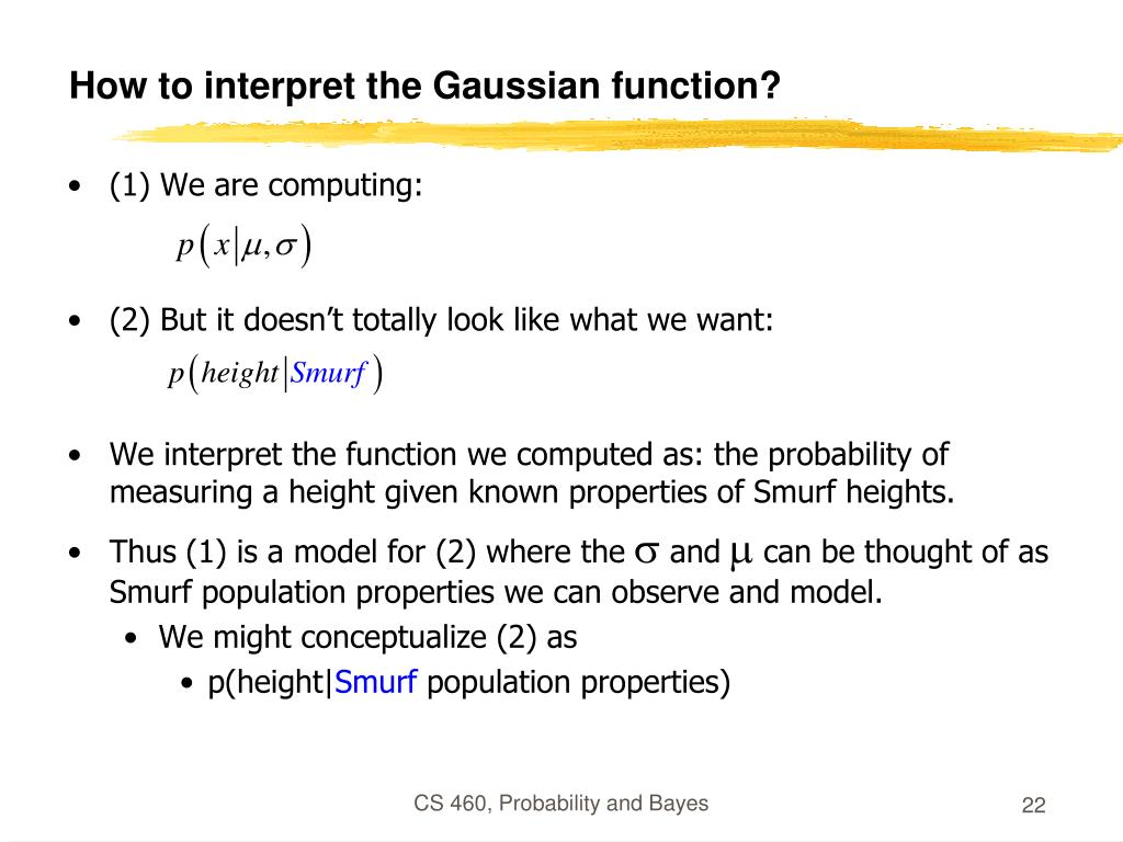 How to interpret the Gaussian function?