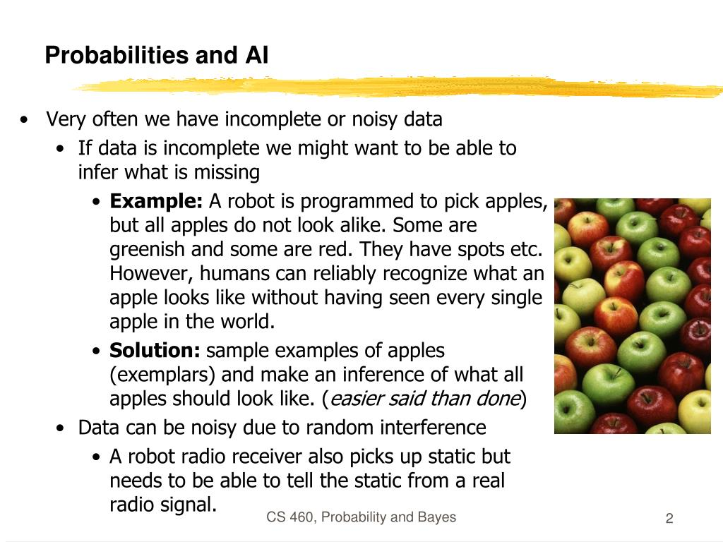 Probabilities and AI