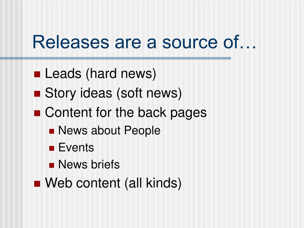 Releases are a source of…