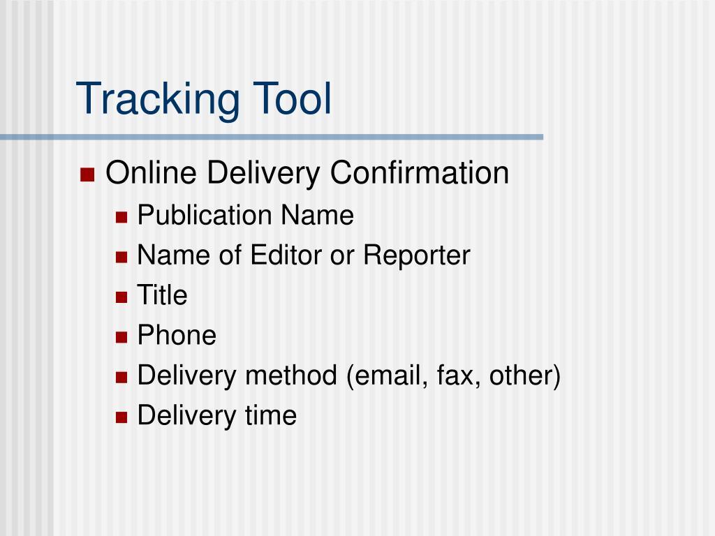 Tracking Tool