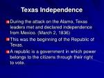 texas independence