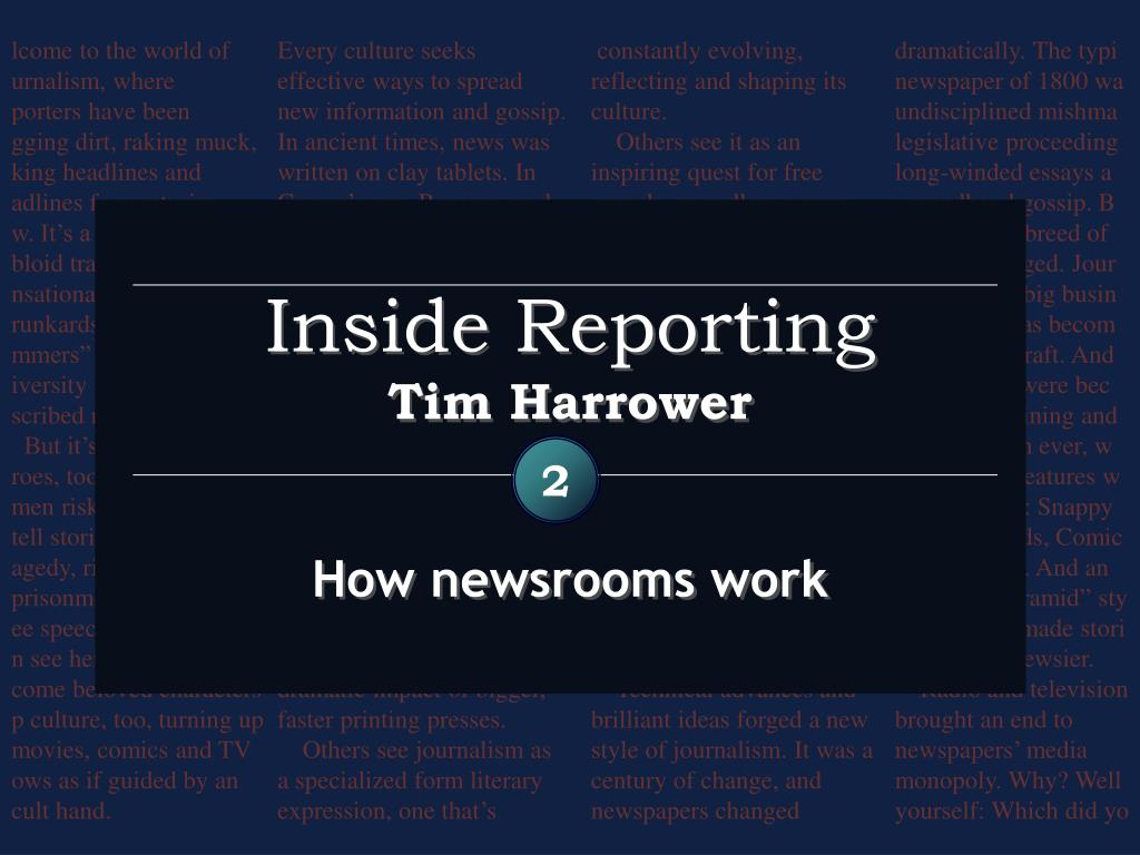 inside reporting tim harrower l.
