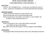 how managers might use emotions and moods 1