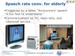 speech rate conv for elderly