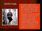 1920 s fads