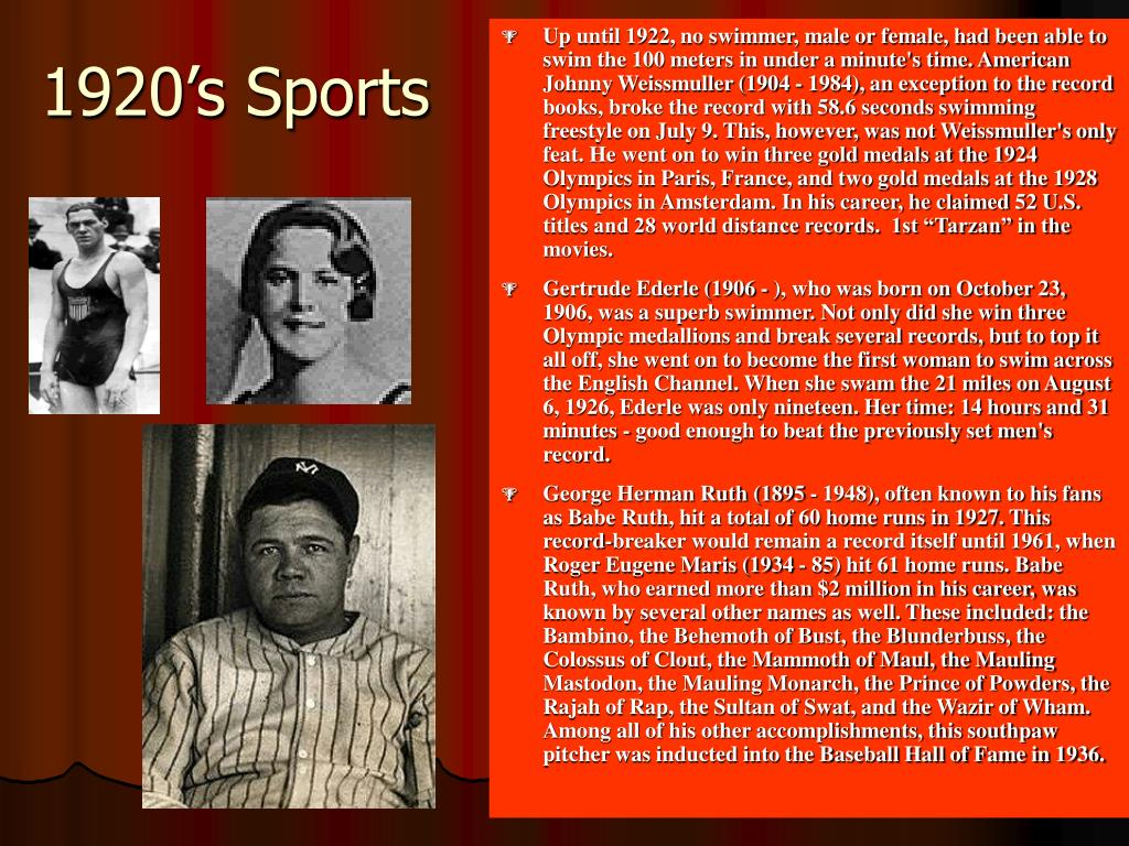1920's Sports