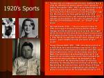 1920 s sports