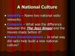 a national culture
