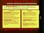harlem performers and musicians