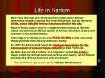life in harlem