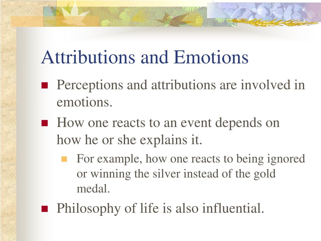 Attributions and Emotions