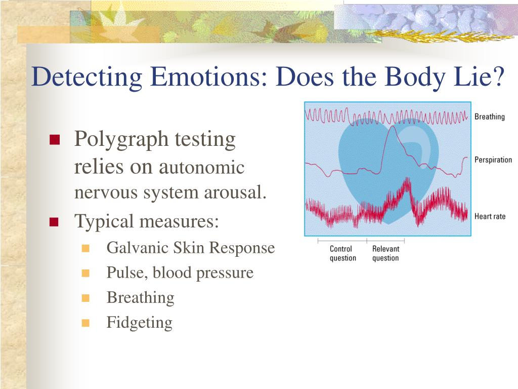Detecting Emotions: Does the Body Lie?