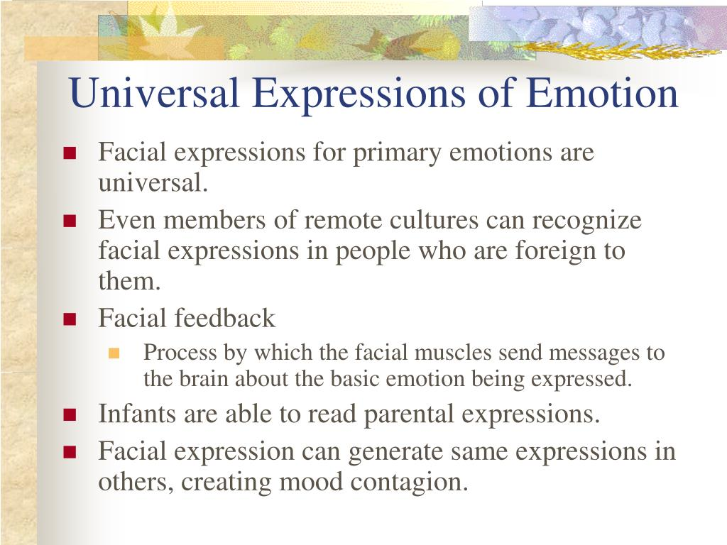 Universal Expressions of Emotion