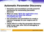 automatic parameter discovery