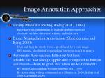 image annotation approaches