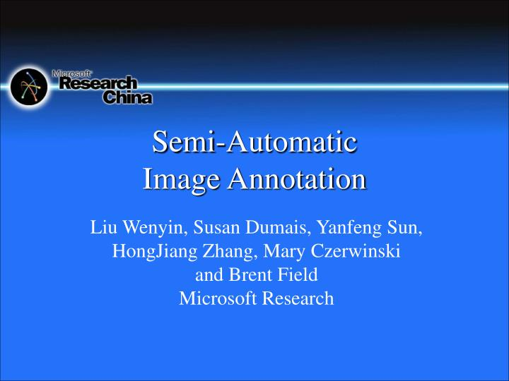 semi automatic image annotation n.