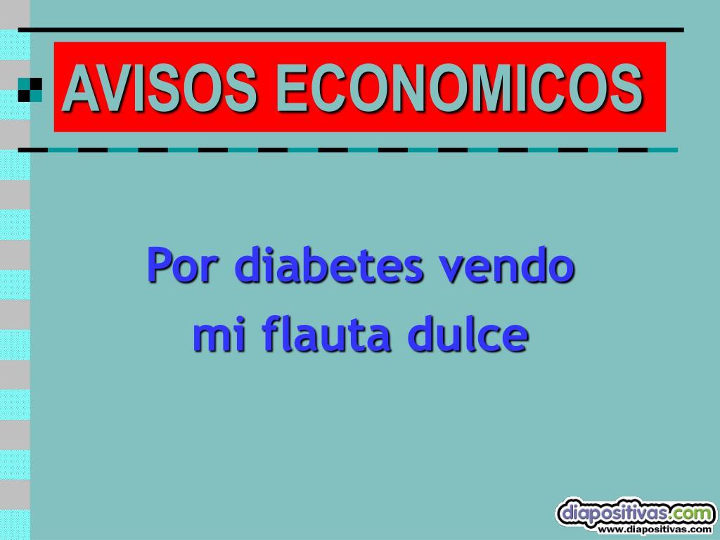 Por diabetes vendo