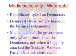 media selectivity watergate