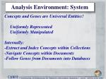 analysis environment system
