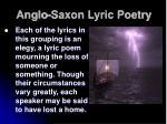 anglo saxon lyric poetry16
