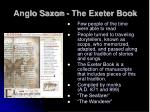 anglo saxon the exeter book
