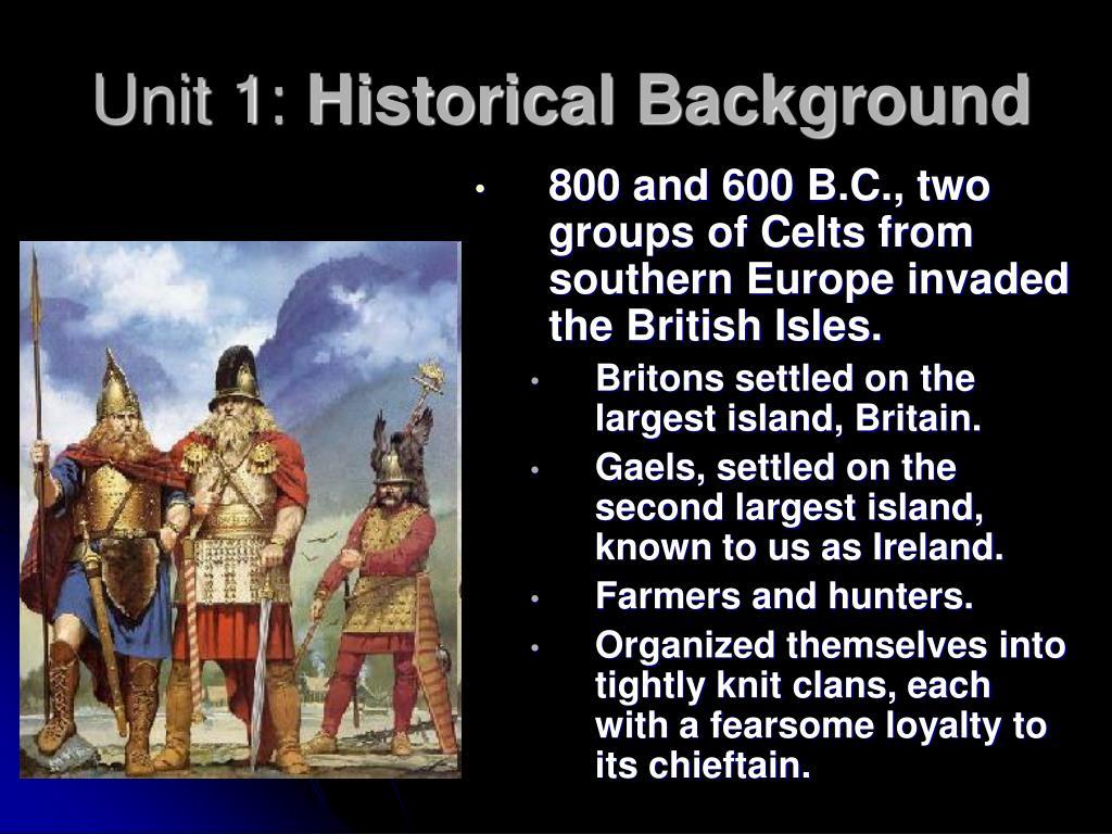 unit 1 historical background