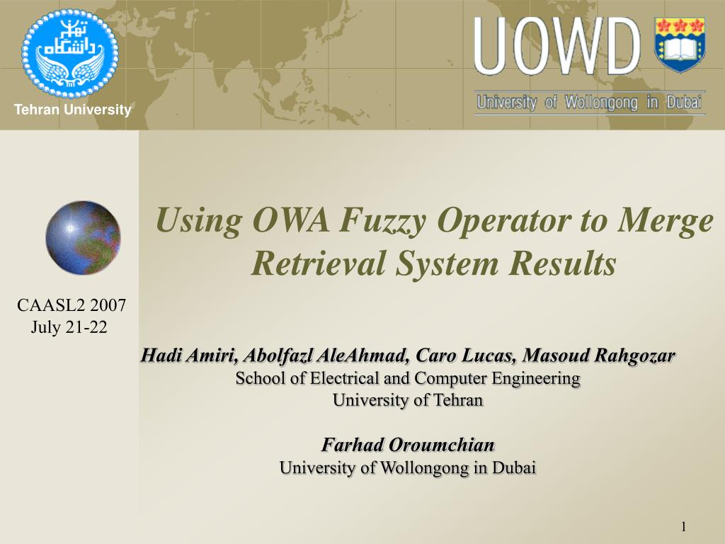 using owa fuzzy operator to merge retrieval system results l.