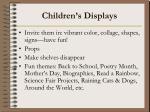 children s displays