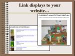 link displays to your website15