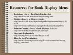 resources for book display ideas