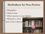 shelftalkers for non fiction