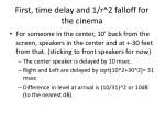first time delay and 1 r 2 falloff for the cinema