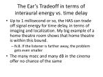 the ear s tradeoff in terms of interaural energy vs time delay