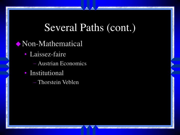 Several paths cont
