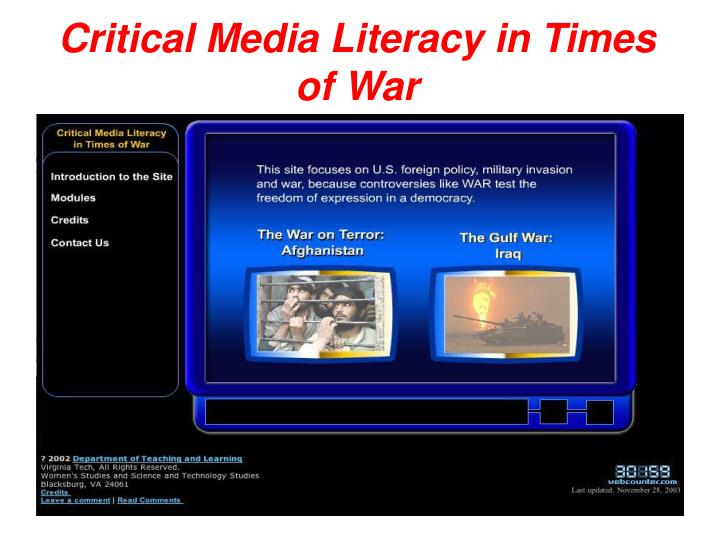 Critical media literacy in times of war