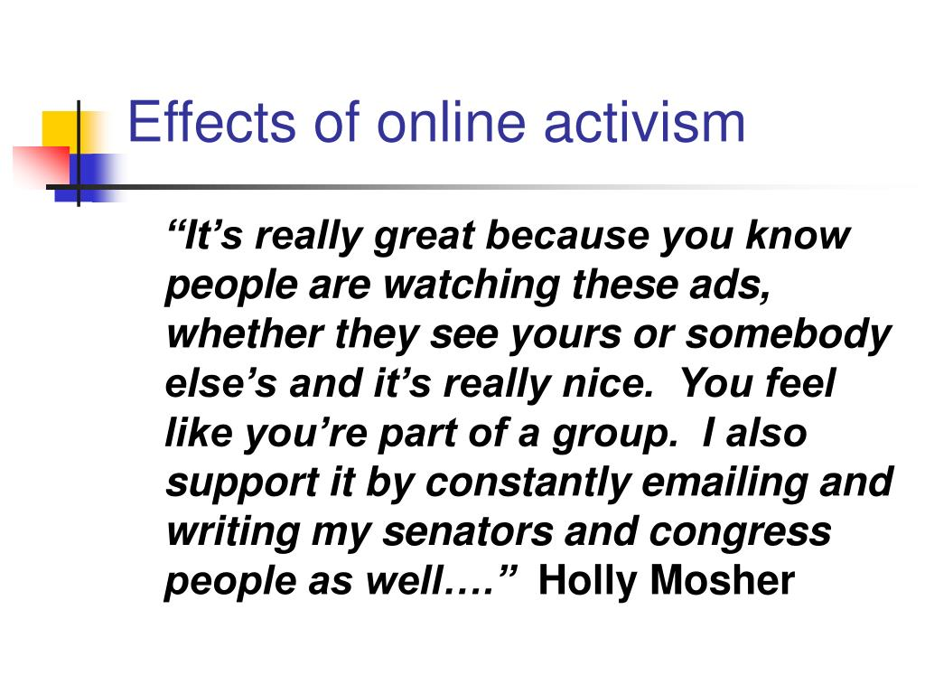 Effects of online activism