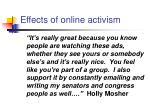 effects of online activism
