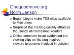 onegoodmove org norm jenson