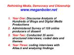 rethinking media democracy and citizenship www meganboler net