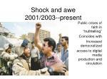 shock and awe 2001 2003 present