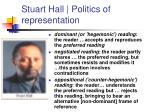 stuart hall politics of representation