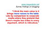 www meganboler net survey findings on blogging